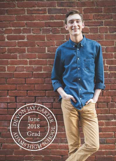 graduation announcements - postmarked grad by Betsy Siber