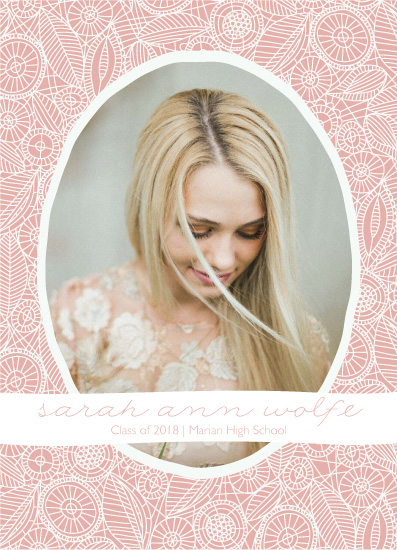 graduation announcements - feminine lace by Betsy Siber