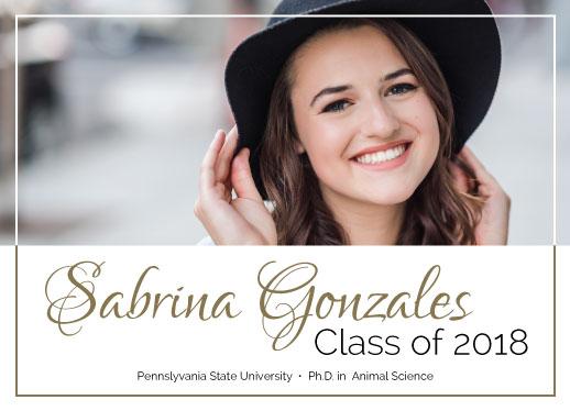 graduation announcements - Framed Minimalistic Announcement by Natalie H