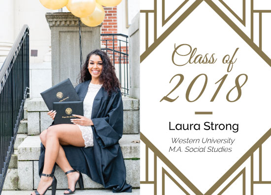 graduation announcements - Classy Graduation Announcement by Natalie H