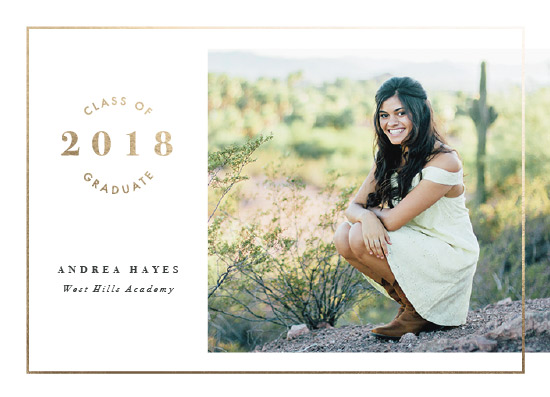 graduation announcements - Stunningly Simple Frame by Ekko Studio