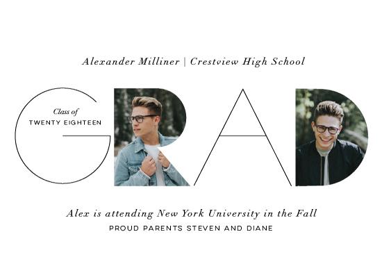 graduation announcements - Cutout Grad by Ellis