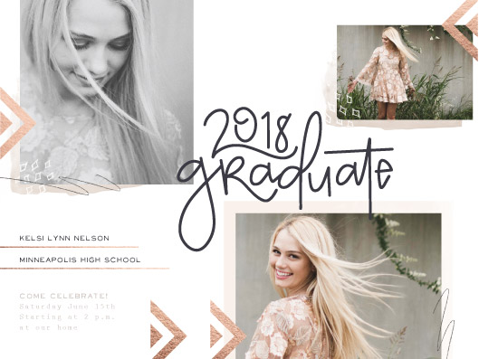 graduation announcements - Bohemian Summer by The Modern Collective