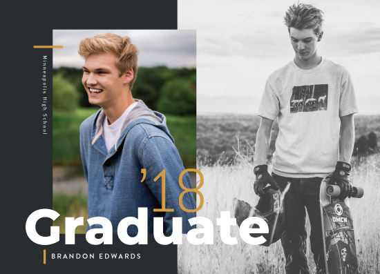 graduation announcements - Bold Statement by The Modern Collective