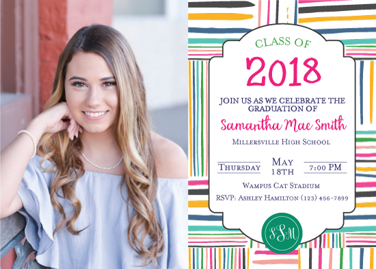 graduation announcements - 2018 Colorful Grad by Sydnie Horton