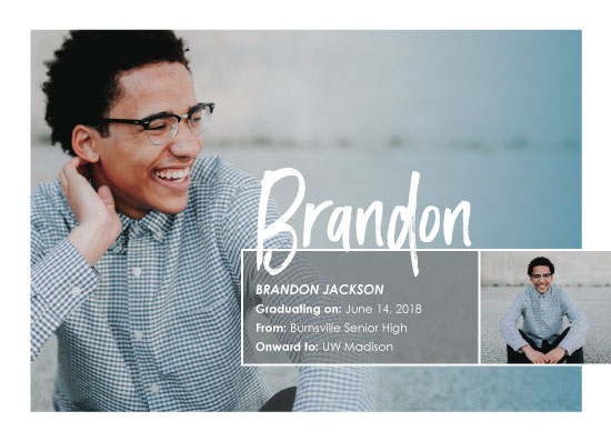 graduation announcements - All in a name by Kimiyo Prints