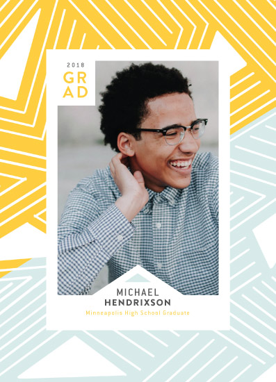 graduation announcements - Pattern Askew by The Modern Collective