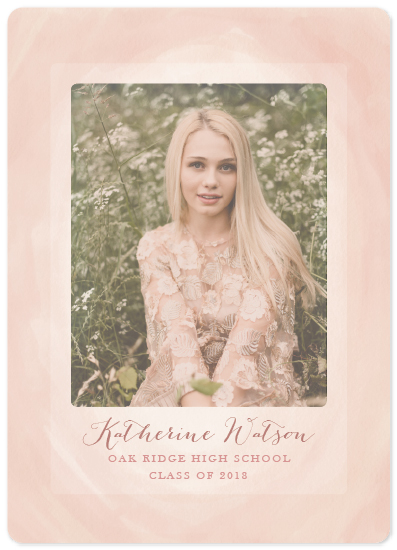 graduation announcements - Washed in Watercolor by Faith Roper Constant