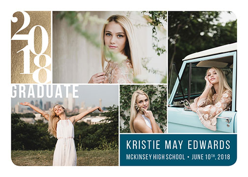 graduation announcements - Falling Into Place by Pauline Lee