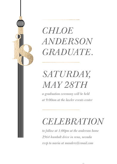 graduation announcements - tasseled celebrations by Dawn Jasper