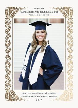Laurel graduation frame