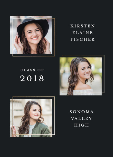 graduation announcements - Lightweight Trio by Sovelle