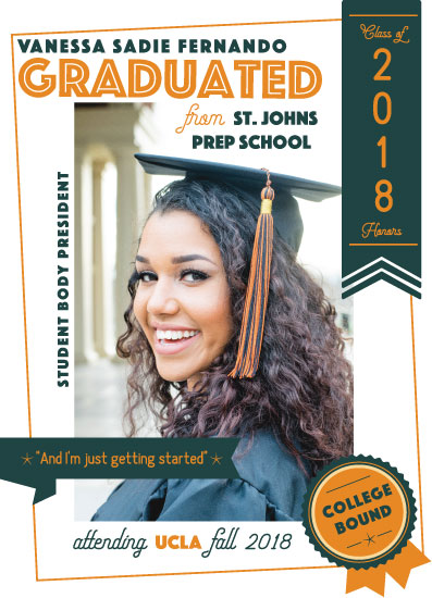 graduation announcements - Over Achiever by Noma Maluzo