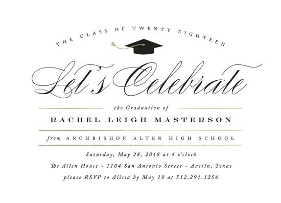 graduation announcements - Celebration by Jennifer Postorino