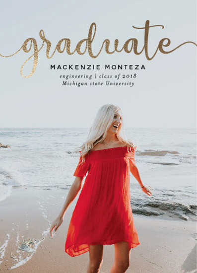 graduation announcements - Graduate in Gold by Carlota Suaco