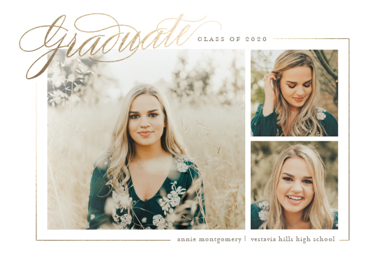 graduation announcements - Montgomery by Amy Kross