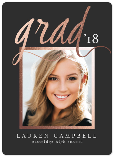 graduation announcements - Scripted Grad by J. Dario Design Co.