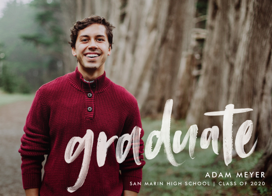 graduation announcements - Modern Brush Graduate by Paper Dahlia