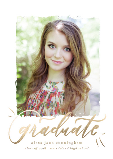 graduation announcements - foil script graduate by Julie Murray