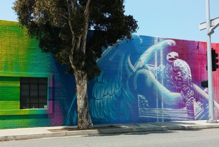 art prints - Santa Monica Fallen Angel Mural by Gill Miller
