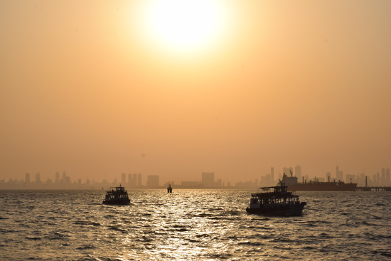 art prints - Sunset Story - Mumbai Coastline by Jenny Rajan Valiaveetil