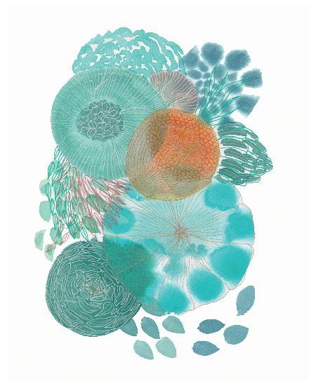 art prints - Aqua Consciousness by Maggie Burns
