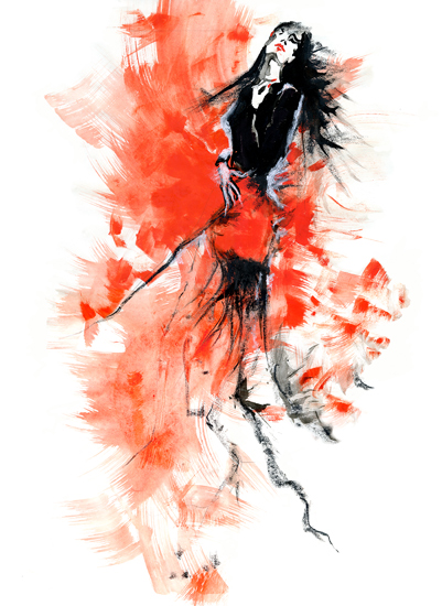 art prints - I will dance through the fire by Eva Marion