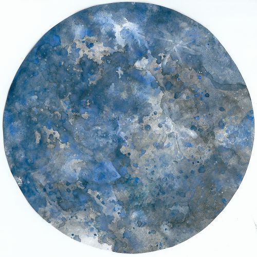 art prints - Moon In Blue by Nikita Almer