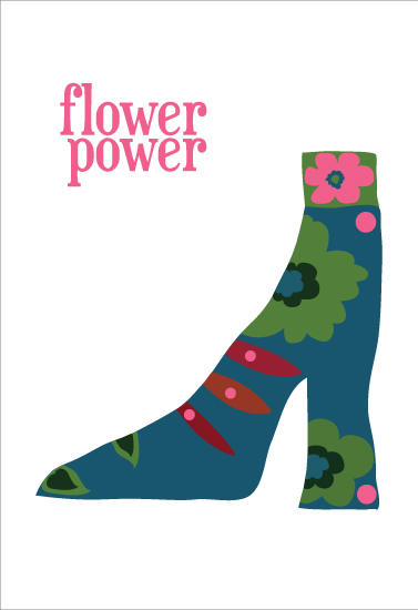 art prints - boho flower power by patrice allison