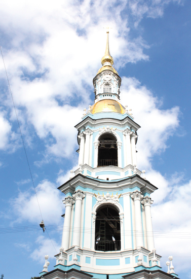 art prints - Saint Petersburg St Nicholas Naval Cathedral Bell tower by Kelly Corcoran