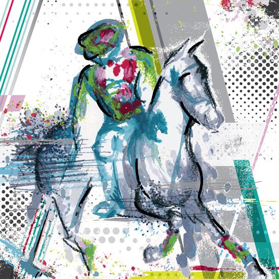 art prints - Polo 1 by Henri Martinez