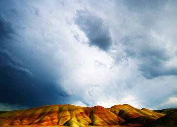 Painted Hills and Rain Clouds