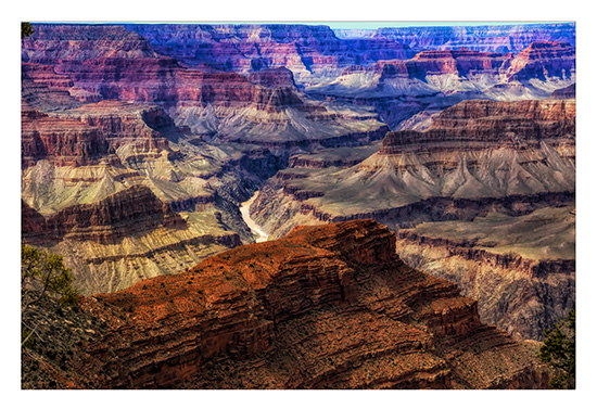 art prints - Morning light at Mohave Point, Grand Canyon by Leslie Ware