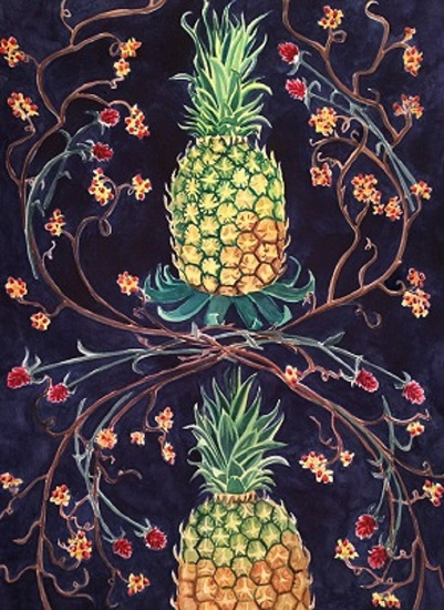 art prints - Two Pineapples by Cathleen Earle