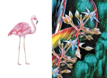 Simply Tropical Diptych