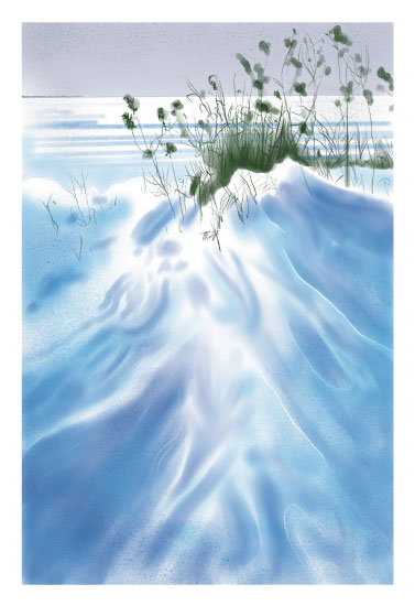 art prints - Winter Beach by Stephanie Miller
