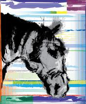 Horse Lines DIG 2 by Henri Martinez