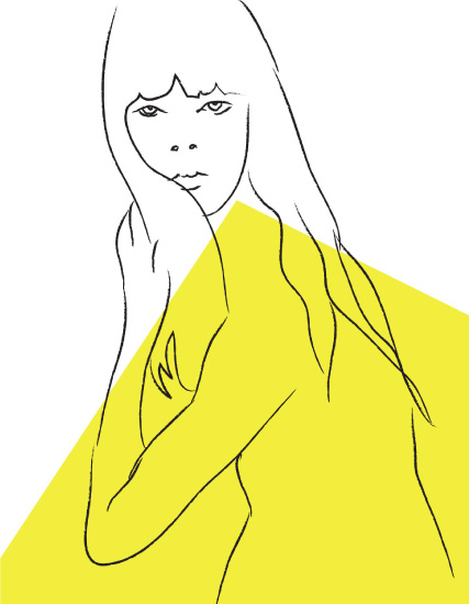 art prints - Lady in Yellow by Marieke Fidler