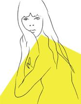 Lady in Yellow by Marieke Fidler