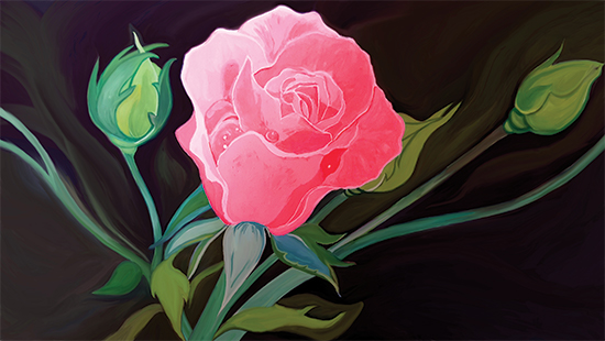 art prints - Rose And Buds by Jenny Rajan Valiaveetil