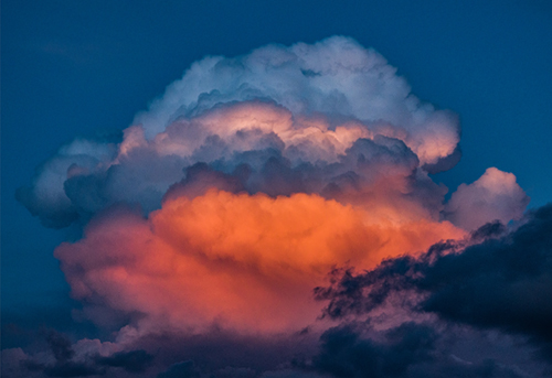 art prints - Blue and Red Storm Cloud by Lee Dunnie