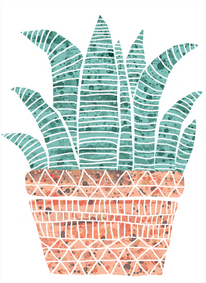 art prints - The Zebra Cactus by Marie Hermansson