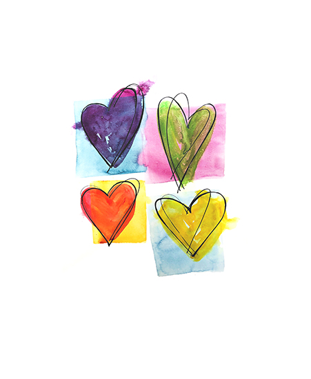 art prints - Dancing Hearts by Roann Mathias