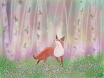 Fox Among Aspens by Callie Mills