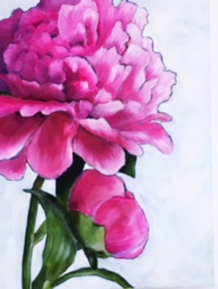 art prints - Hello There, Peony by Rebecca Kiser