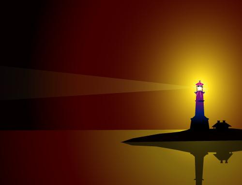 art prints - Night Lighthouse by Samiran Sarkar