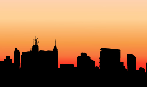 art prints - Evening City Skyline by Samiran Sarkar