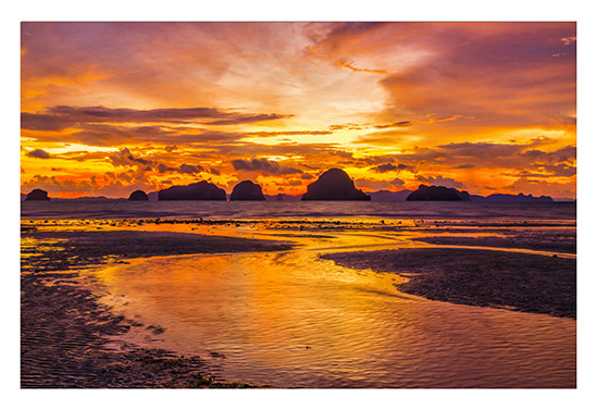 art prints - Sunset over Phang Nga Bay, Thailand by Leslie Ware
