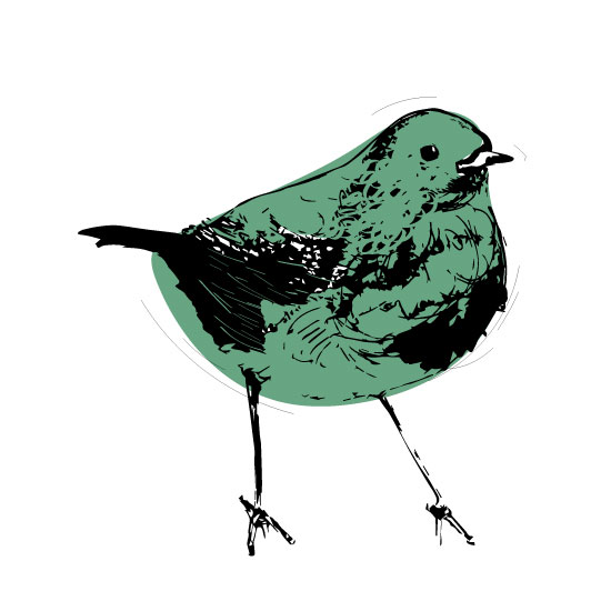 art prints - Pop Robin by GoldenDreams Studio
