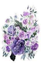 Violet Floral by Yandi Jester